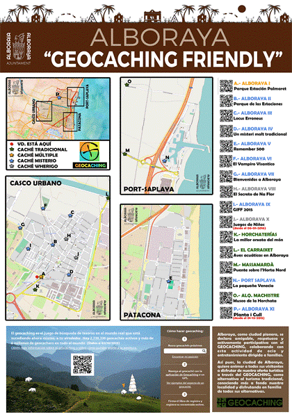 Cartel oficial Alboraya Geocaching Friendly